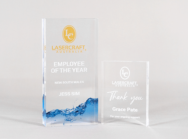Ingot-Classic-series-Corporate-Service-Award-Clear-Acrylic-Program-Australian-Made-Recognition-Freestanding-Lasercraft.com.au-©-XXX-03
