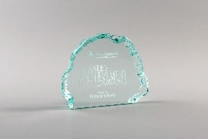 Iceberg a Ice series Corporate and Service Award by Lasercraft.com.au (Acrylic - Australian Made - Trophies - Business - Recognition - Employee - Freestanding - Program) - SKU:390 SKU:391 - Pic-01