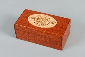 Wooden Gift Box Business Gift by Lasercraft.com.au (Timber - Program - Australian Made - Recognition - Trophies - Freestanding - Hand Made) - SKU:352 SKU:356 - Pic-01